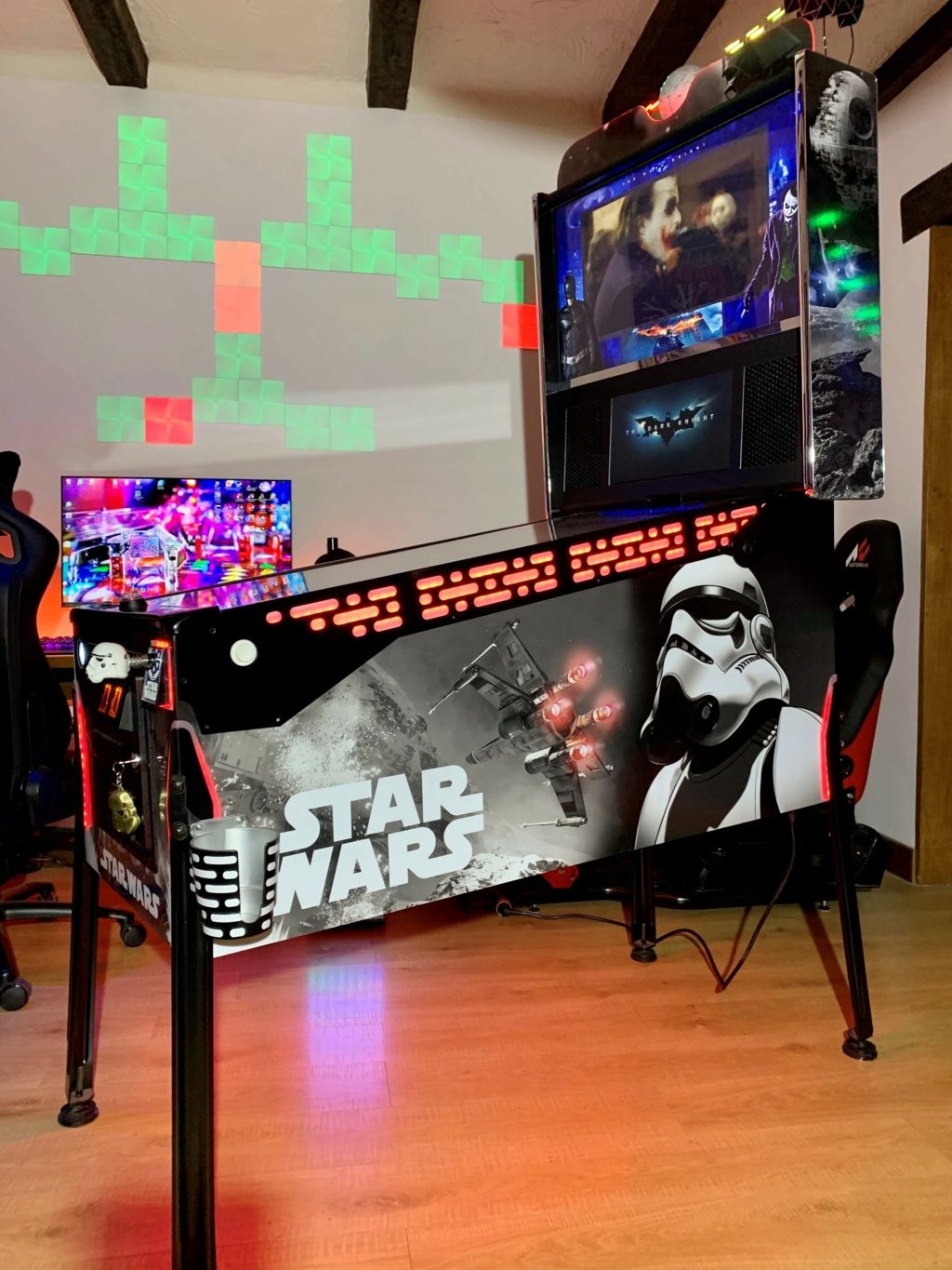 "[TERMINÉ] Star Wars 43"" 120Hz 4K / DMD 15.6"" + Pin2DMD Pincab92"