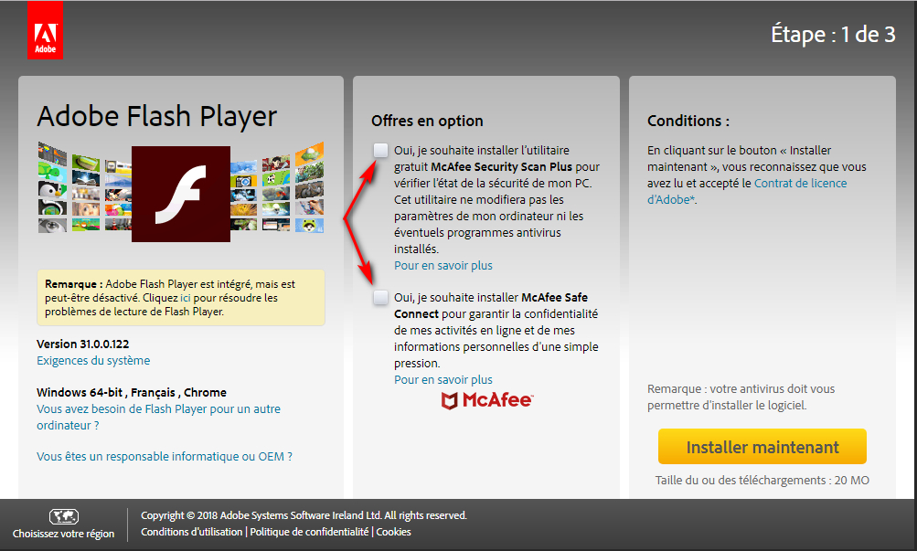 MAJ d'Adobe Flash Player Captur32
