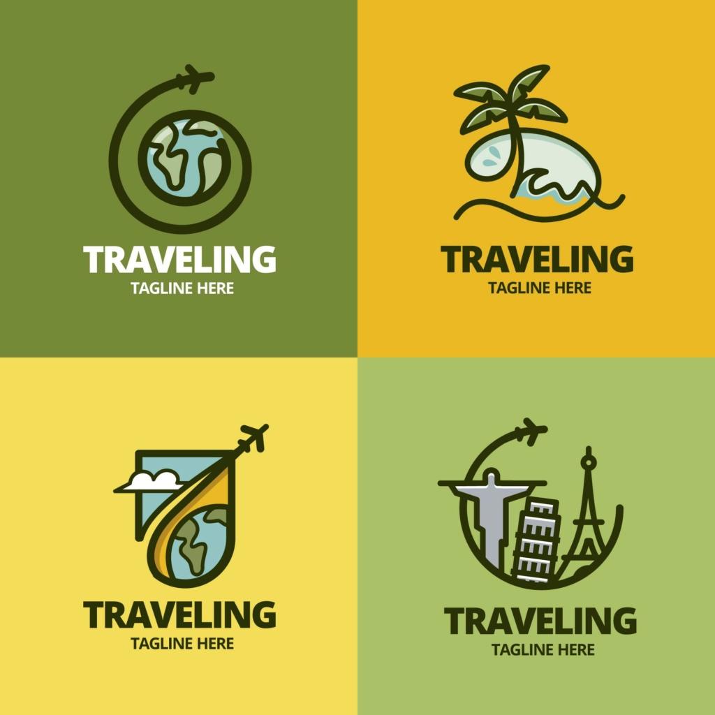 20 شعار فيكتور جاهزة للتعديل لشركة السياحة 1010
