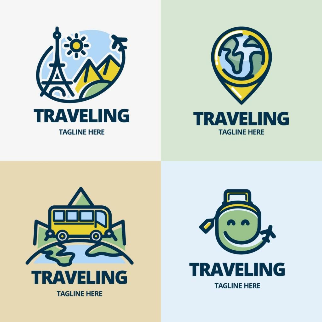 20 شعار فيكتور جاهزة للتعديل لشركة السياحة 410