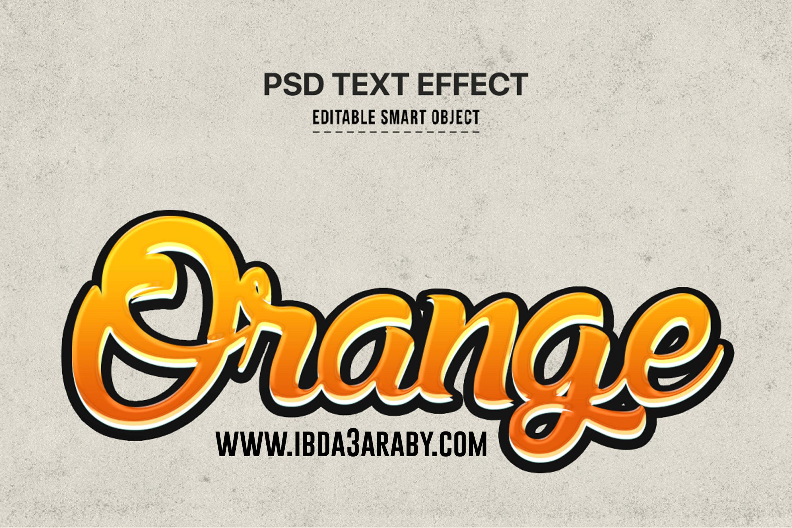تاثير النص البرتقالي TEXT Effects 510