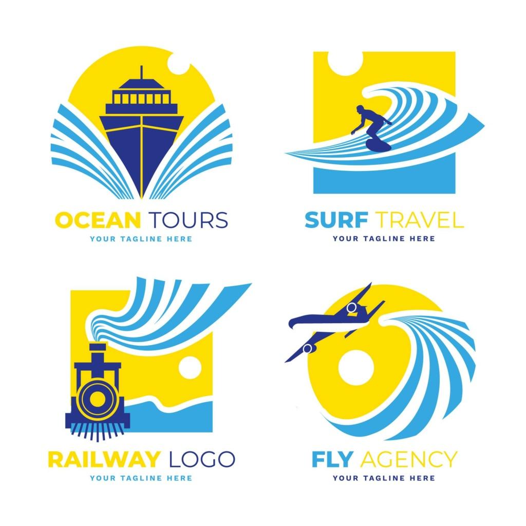 20 شعار فيكتور جاهزة للتعديل لشركة السياحة 511