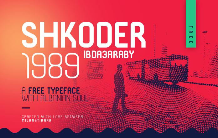 الخط الانجليزي شكودر SHKODER 1989 TYPEFACE 6-free10