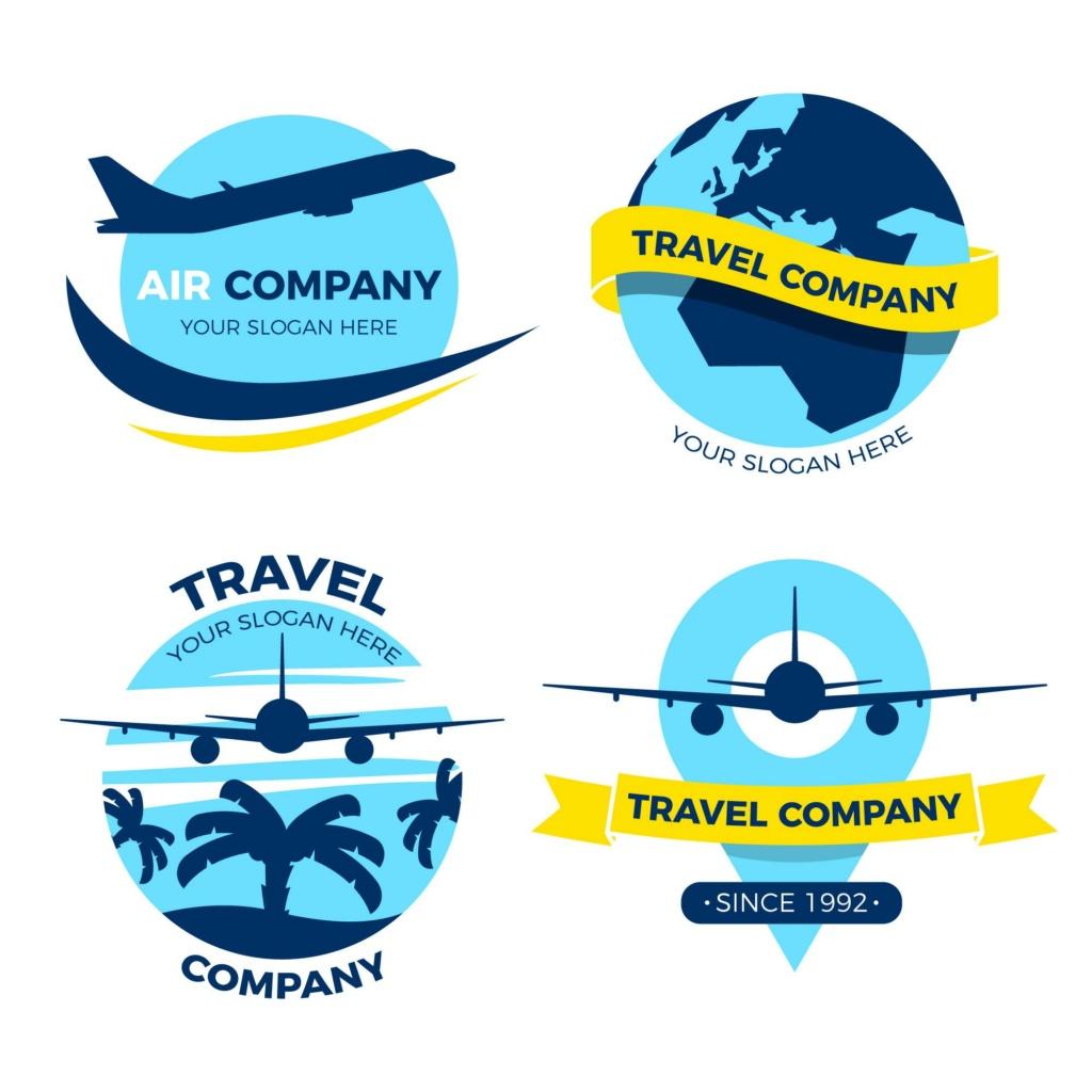 20 شعار فيكتور جاهزة للتعديل لشركة السياحة 910
