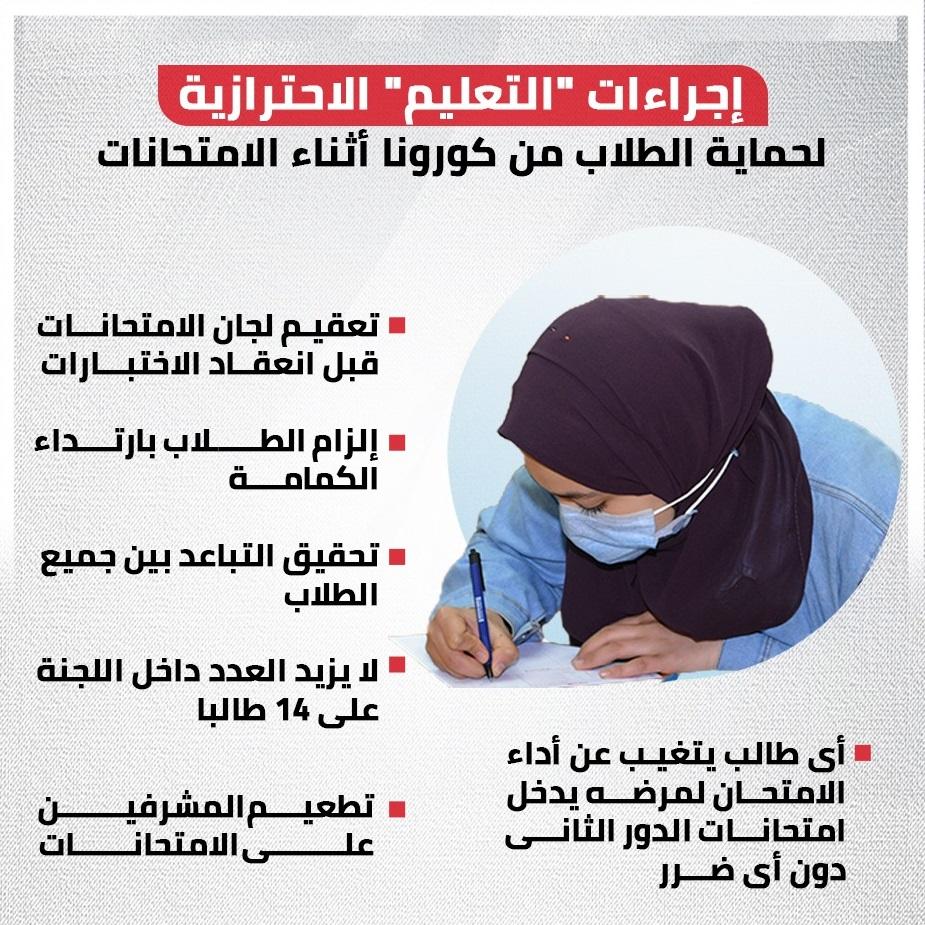 شكل لجان امتحان الشهادتين الإعدادية والثانوية 2021  02215