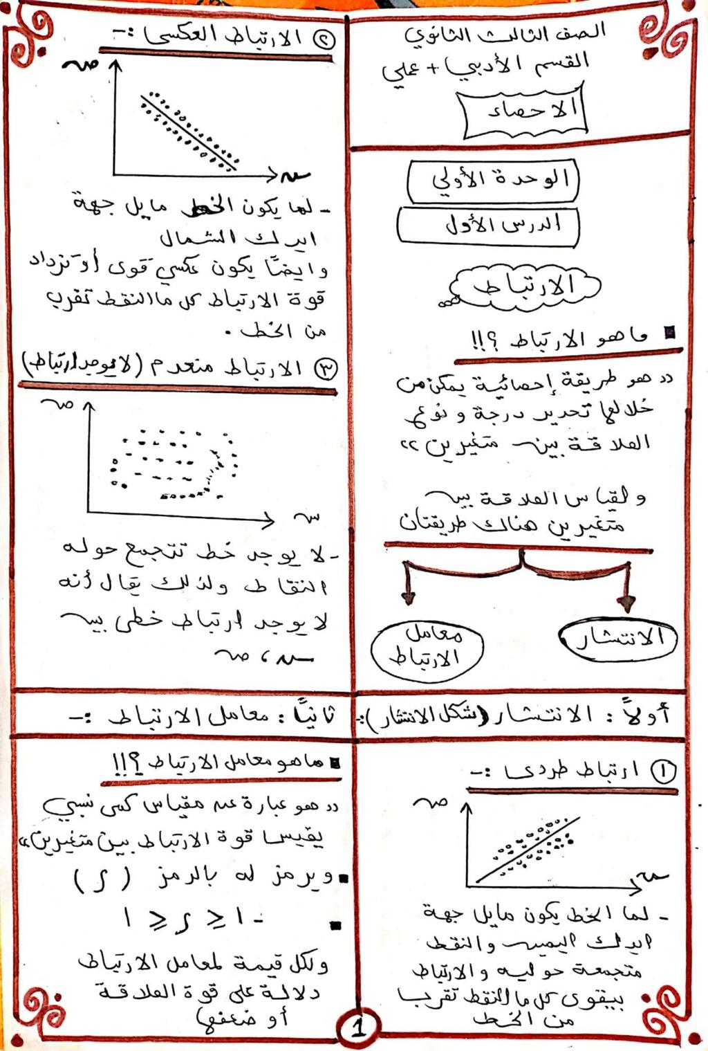 مراجعة احصاء الصف الثالث الثانوي أ/ محمود مرزوق خلاف 1500