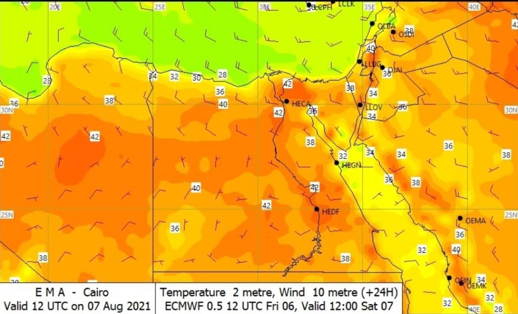 42 درجة.. الأرصاد| استمرار الارتفاع فى درجات الحرارة  1549