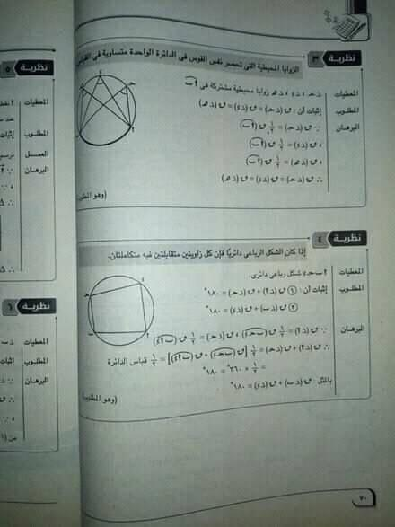مراجعة هندسة | النظريات المطلوب اثباتها ٣ اعدادي 2255