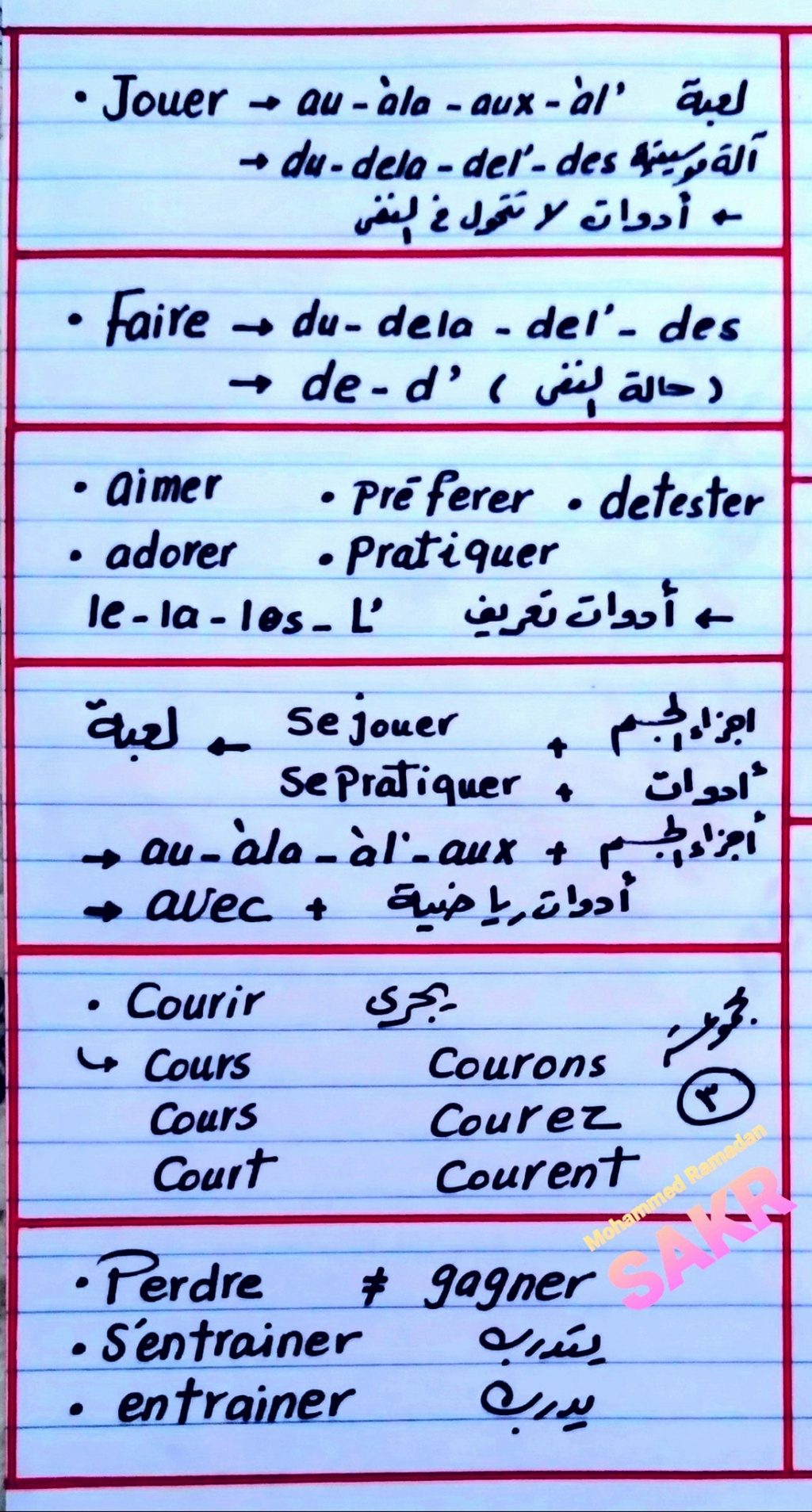 مراجعة لغة فرنسية الثالث الثانوى   ملاحظات مهمة على الوحدة الأولى 3110