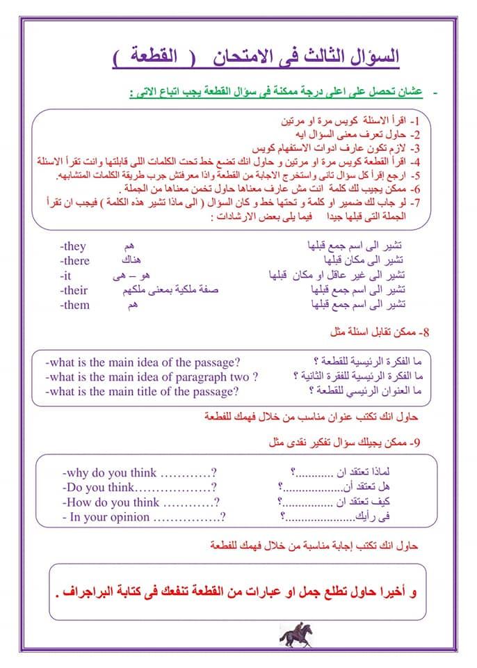 لغة انجليزية | المحادثة والقطعة بأسلوب بسيط للصف الثالث الاعدادى مستر سليم البطران 4141