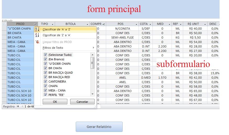 Criar Relatório com dados subform filtrado Duvida13
