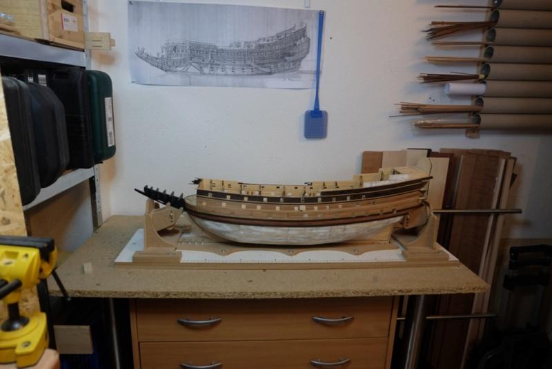 Sovereign of the Seas am Ausrüstungskai, Diorama in 1/72 Dscf3111