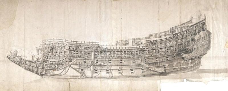Sovereign of the Seas am Ausrüstungskai, Diorama in 1/72 Morgan10
