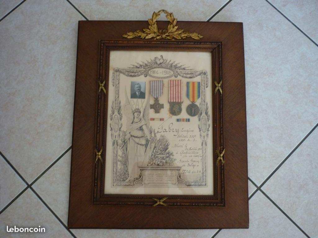Cadre médaille ww1 6778a610