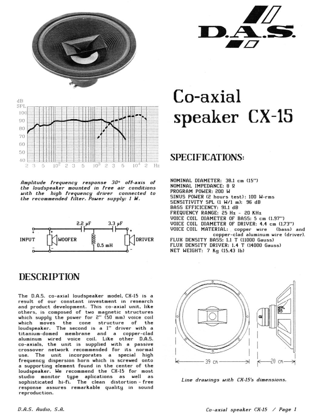 Altavoces Coaxiales (Duplex) Cx-15a10