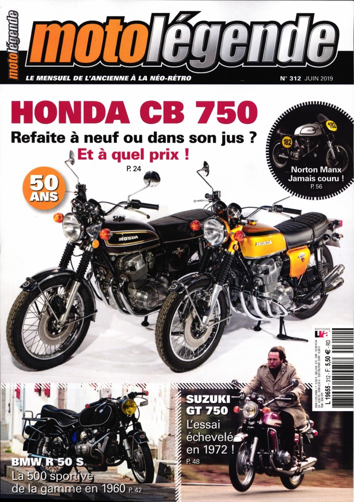 moto légende  juin CB 750,GT 750... Ml21