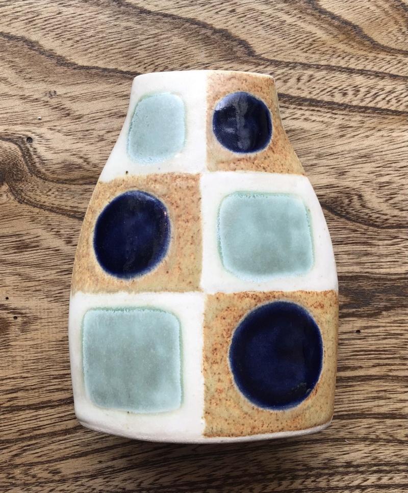 HB mark - spots and squares  slab vase 12d62510