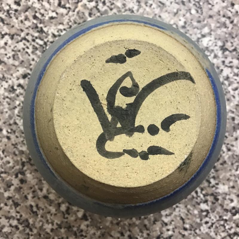 Weird mark stoneware bottle vase cwc / gwc?? 138cf610