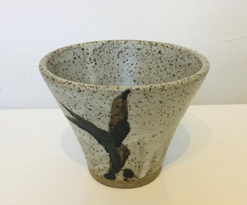Stoneware vessel Distinctive S mark, glazed interior floor? 16b43010