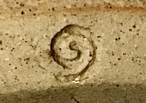 Old school, beige, vase - swirl mark - Gordon Menzies, Iona Pottery  23ea9410