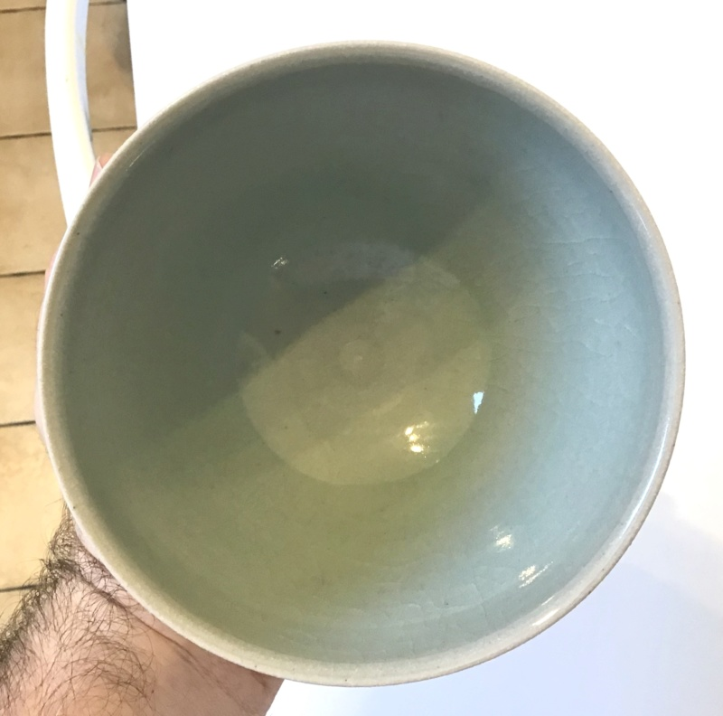 Unusual knobbly stunning teabowl - Hk mark - by Hyejeong Kim  A6039610