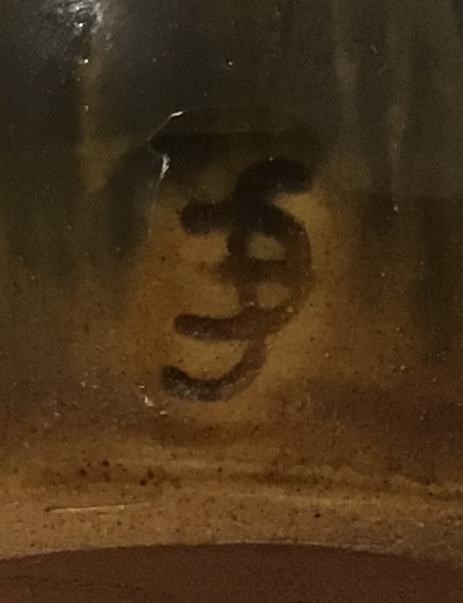 Scrafitti harlequin glazed bottle BF or fd mark . f backwards e or c Dfb63d10