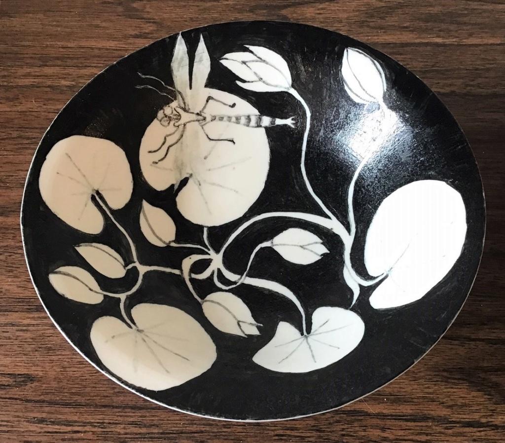 Dragonfly Handpainted Porcelain Bowl..... AMAZING Img_0825