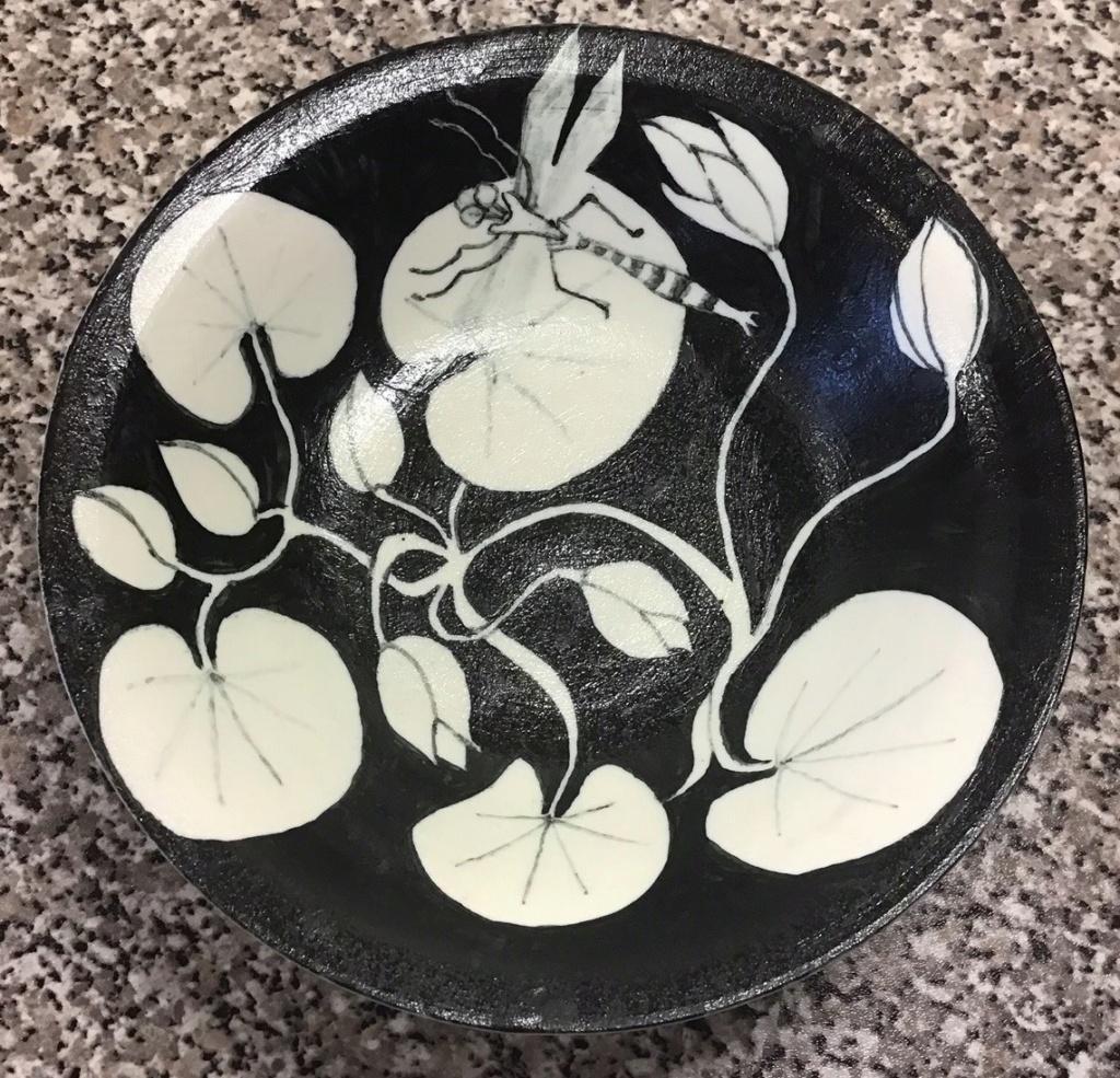 Dragonfly Handpainted Porcelain Bowl..... AMAZING Img_0922