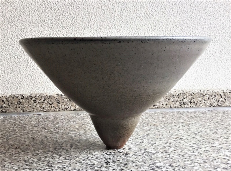 Top heavy unusual geometrical Open Bowl .... Unmarked Img_4810