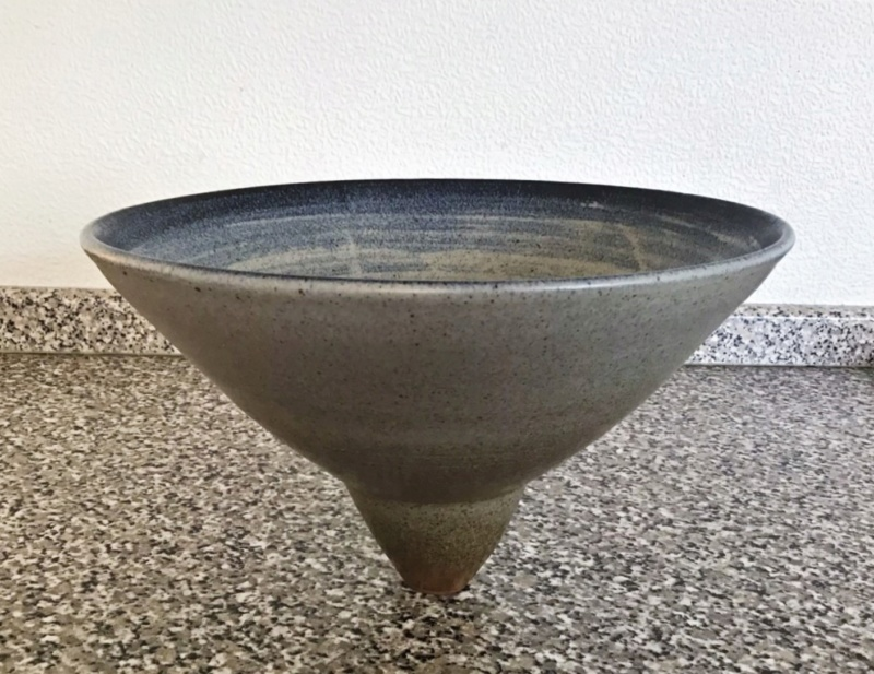 Top heavy unusual geometrical Open Bowl .... Unmarked Img_4815