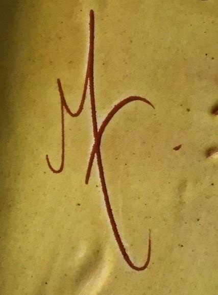 Slipware footed Tray Mt / Mf mark? Mf0_co10