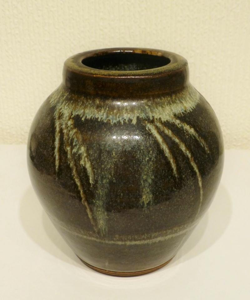 Studio Stoneware lidded jar, painted D - Wenford Bridge or Winchcombe  P1070611