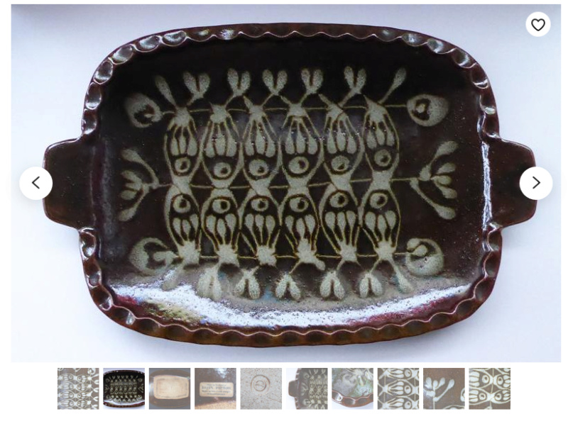 Tray with Flower Motif (not Brian Paul Bearne) - Davey Pottery  Screen14