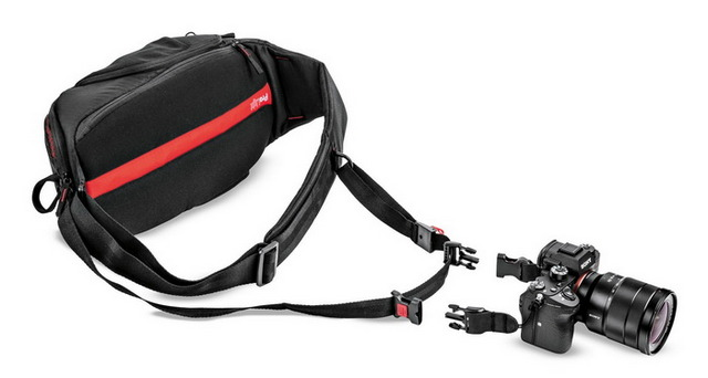 Manfrotto ProLight FastTrack-8 : hybride sling et courroie Arton110