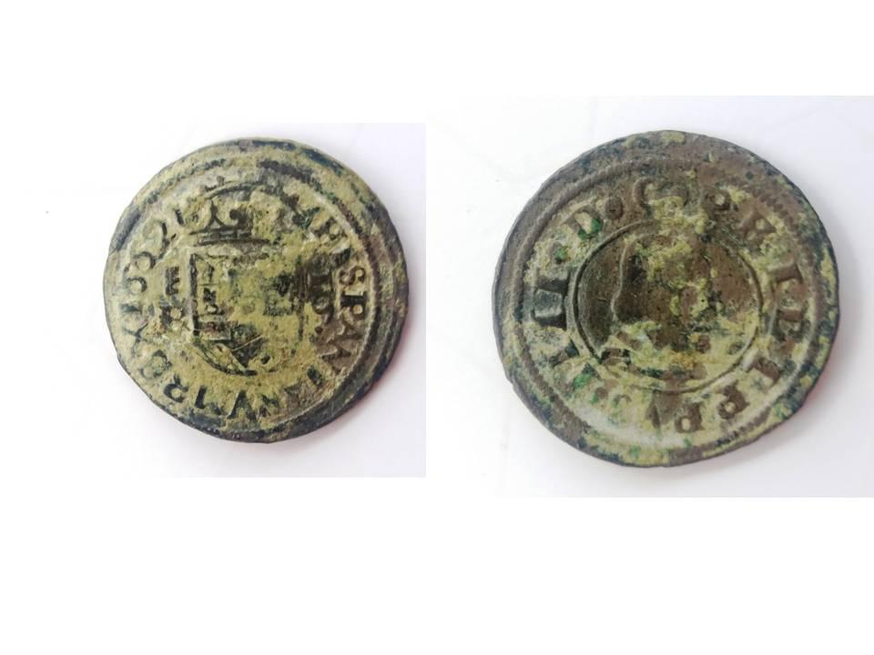 16 maravedies (1662 Segovia)  16m10
