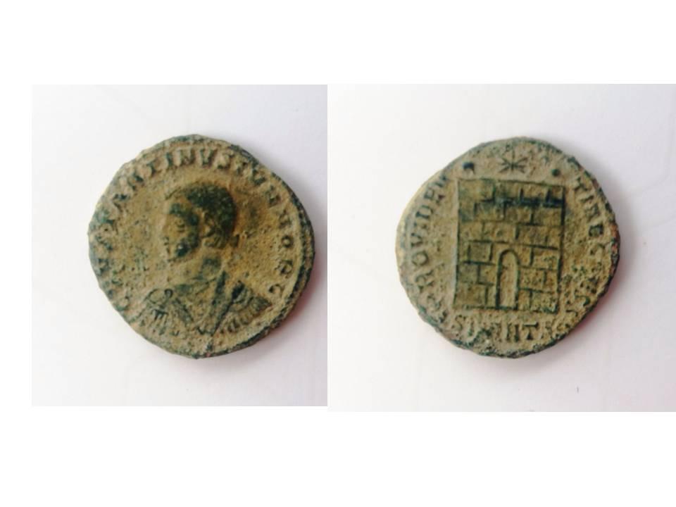AE3 de Constancio II. PROVIDENTIAE CAESS. Antioquía  Presen10