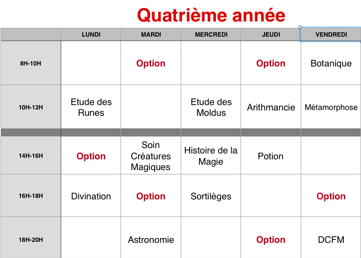 Planning des cours 4eame_10