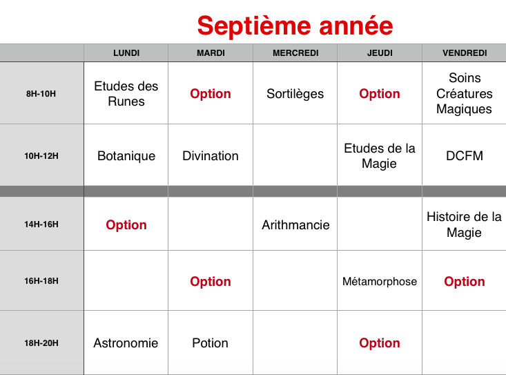 Planning des cours 7eame_10