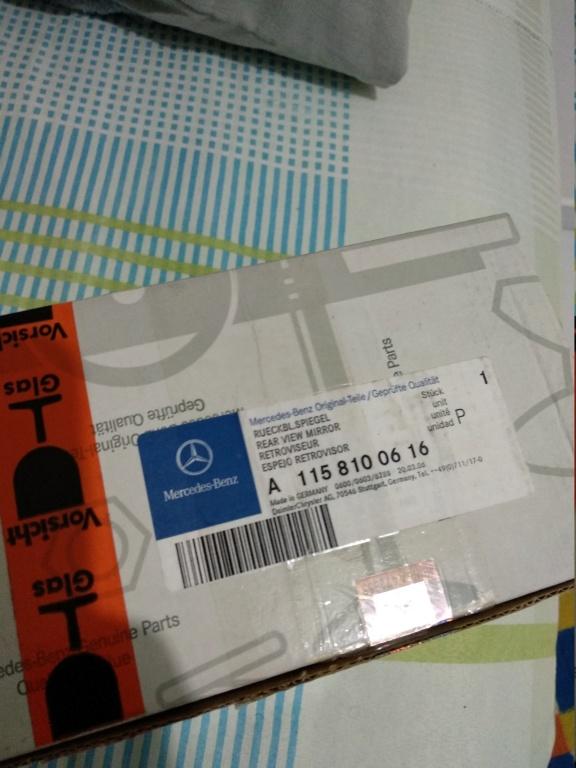 (Vendo) Retrovisor Mercedes Benz Lado Direto W114 - W115(barra 8) Img_2014