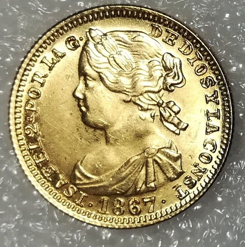 Isabel II 4 escudos 1867 S-l16011