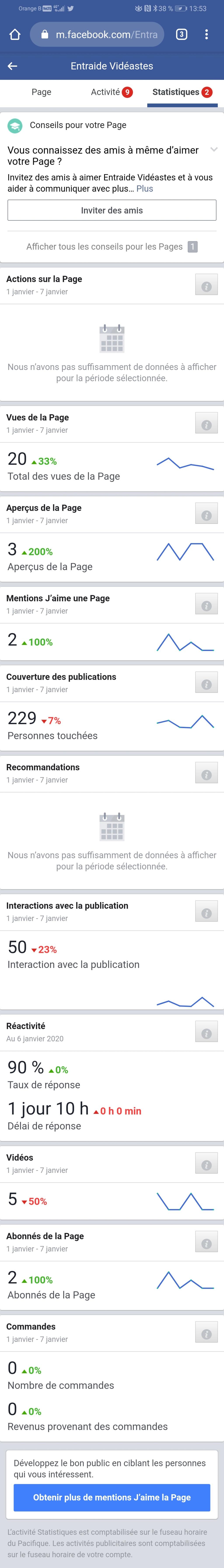 Le point STAT des réseaux du forum : 903 FANS FB Screen11