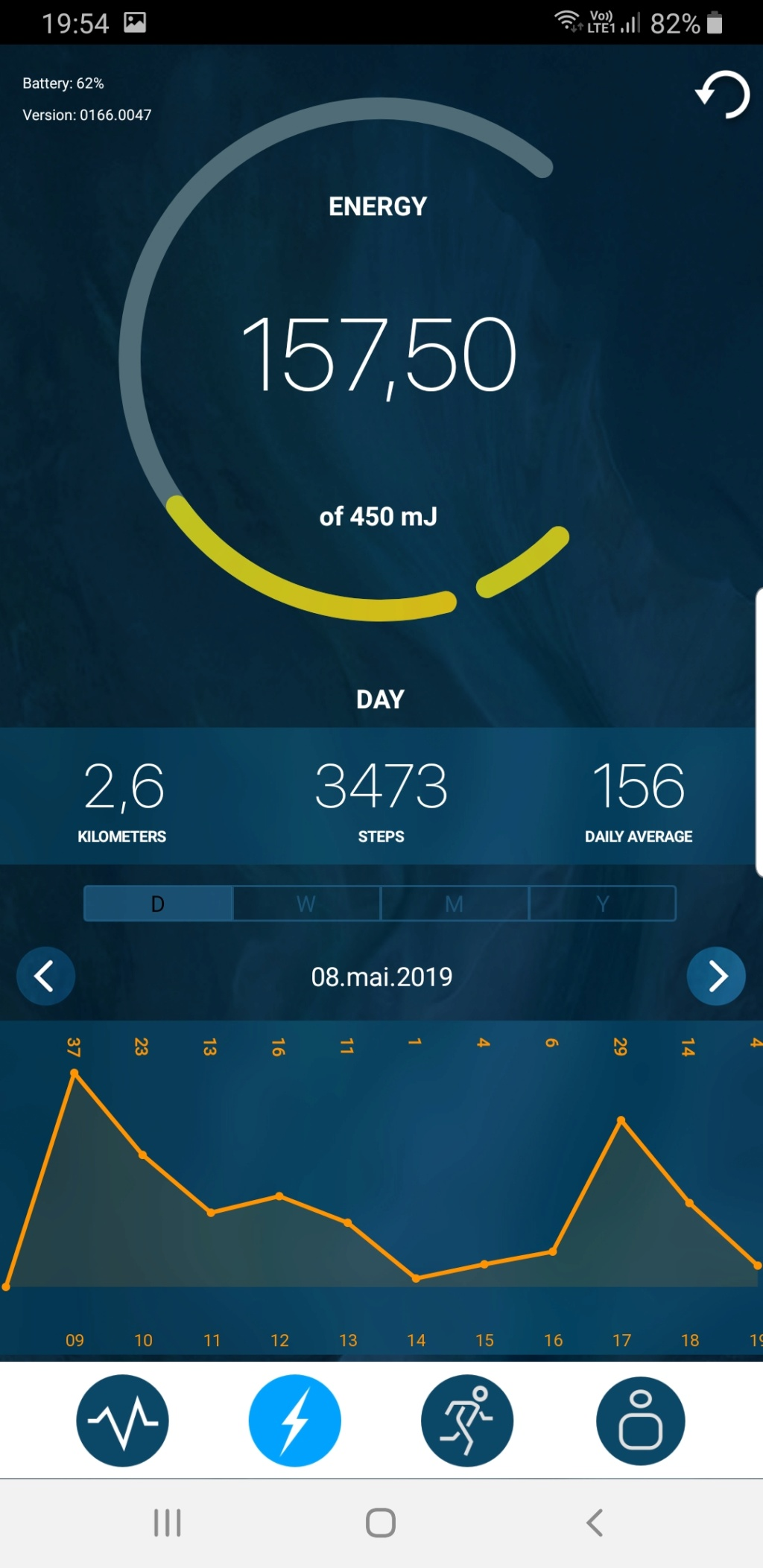 Sequent : Smartwatch a rechargement Kinetique Screen12
