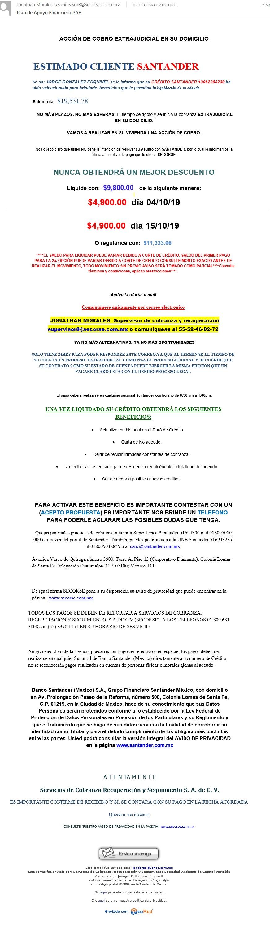 Deuda Santander & Electra Secors11