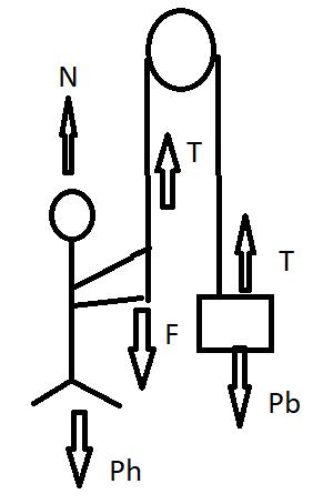 Sistema em equilíbrio - Polia Forcas10