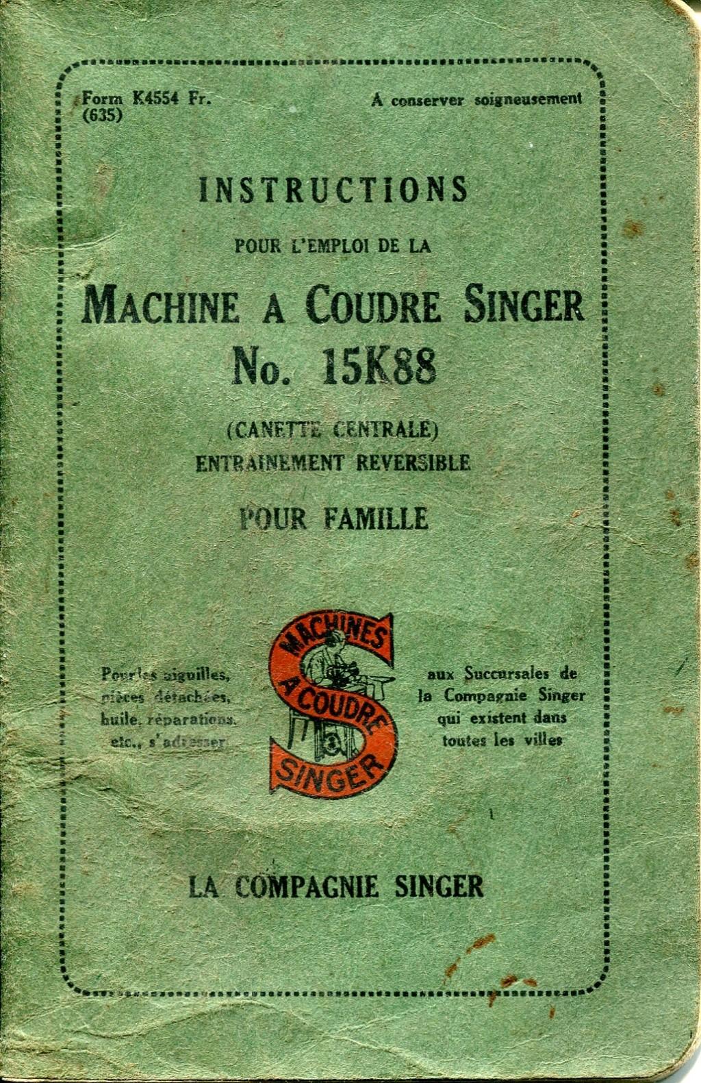 Notice Singer 15K88 15k88011