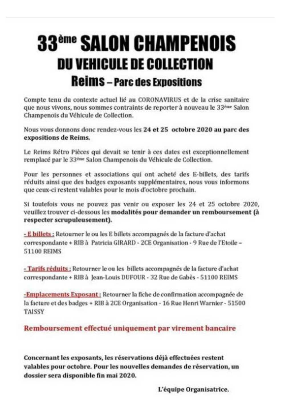 Salon Champenois REIMS 24 & 25 octobre 2020 Reims10