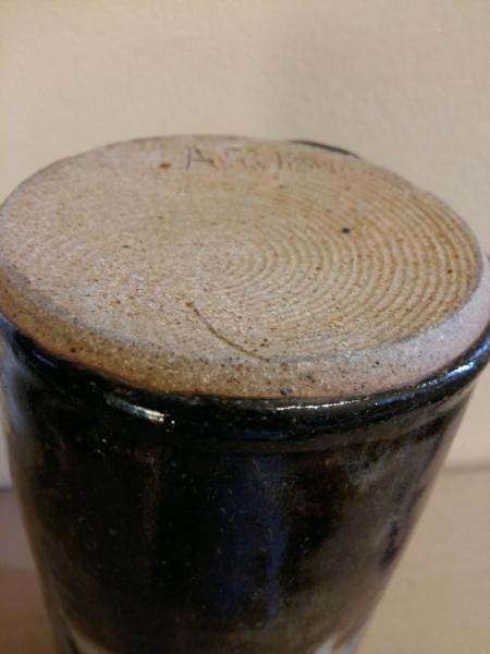 23 cm vase signed A.Fulton (?) 20201211