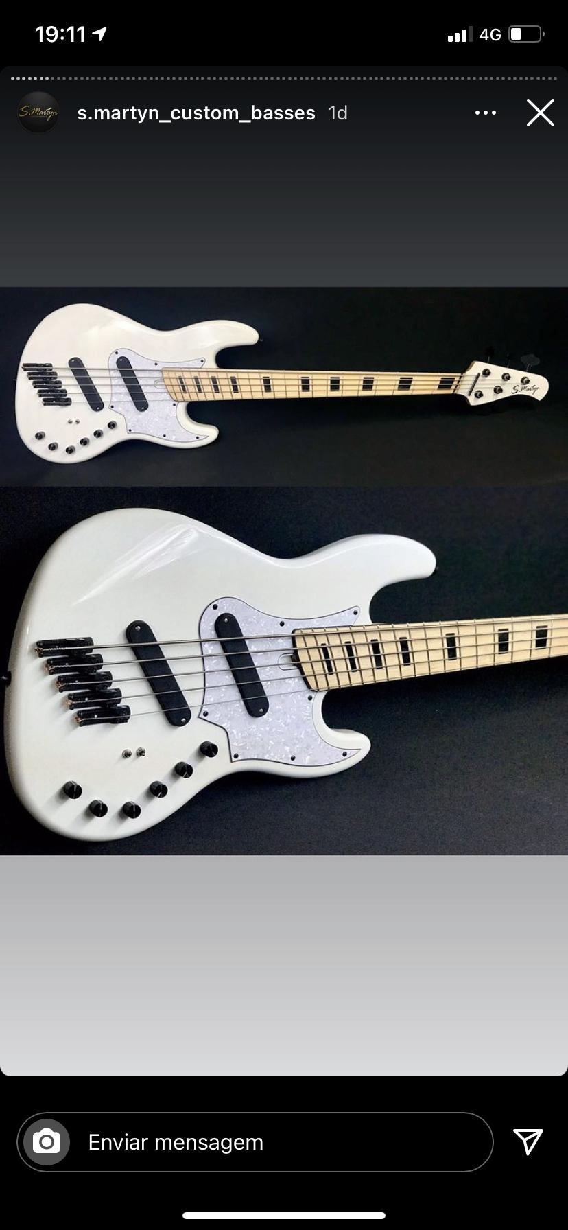 Super jazz bass fanned 5 cordas - S. Martyn 6961cd10