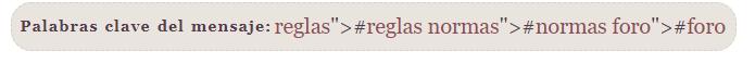 Corregir errores con los tags y palabras claves en los mensajes 2021-011