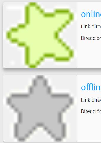 Como hago para que se visualice el icono offline para los usuarios desconectados en los mensajes 2021-040